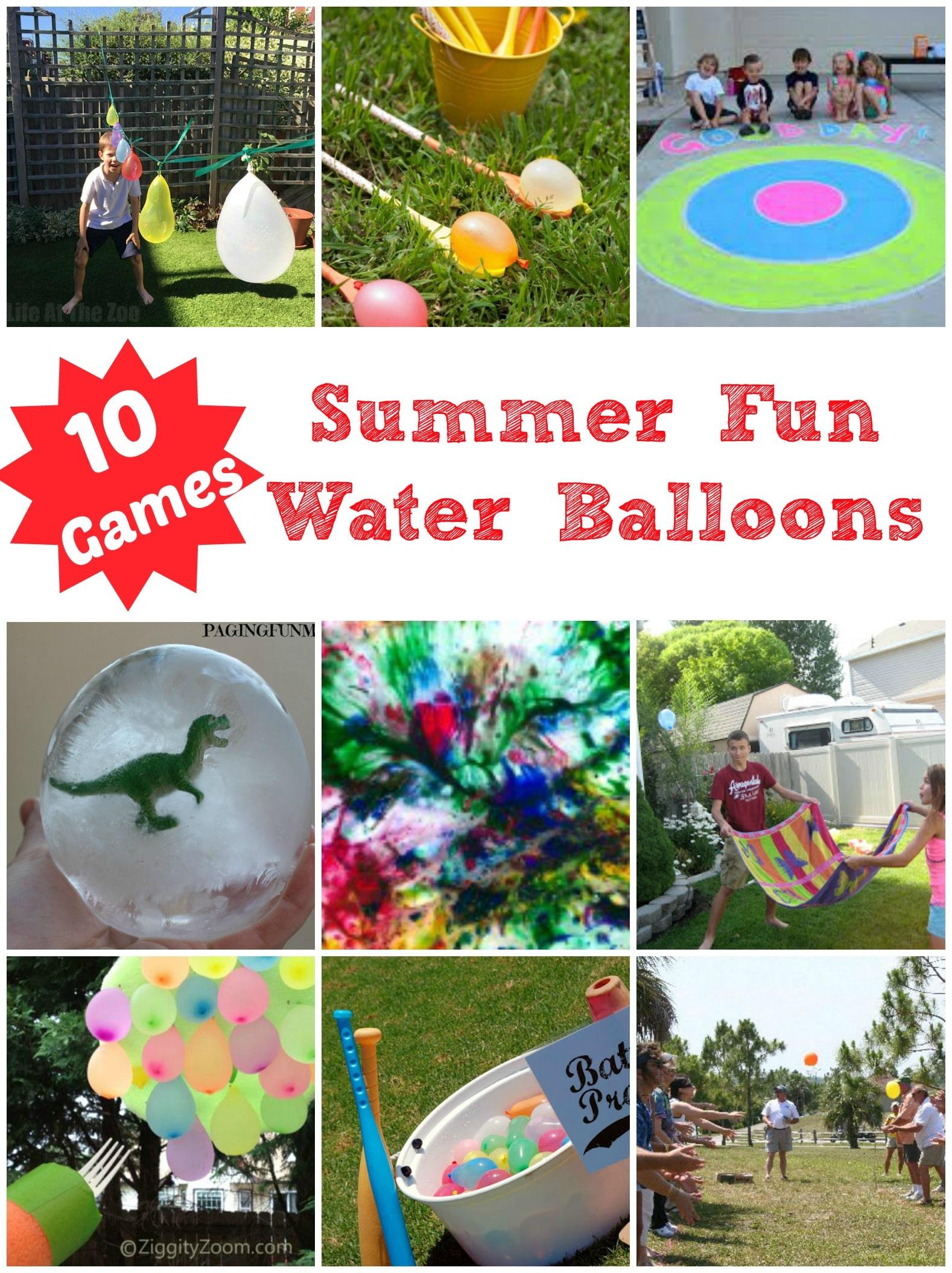10 Fun Water Balloon Ideas