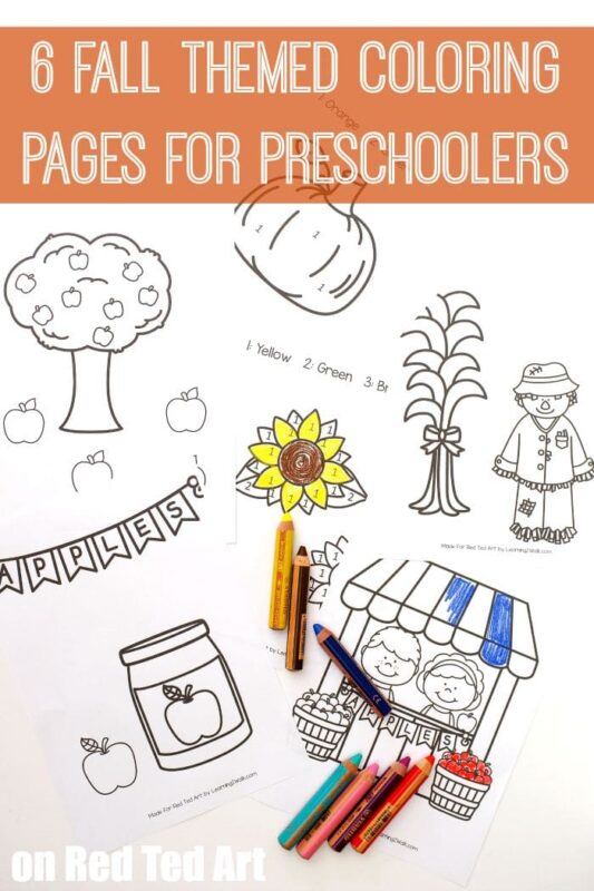 Fall Coloring Pages For Preschoolers Red Ted Art Make Crafting With Kids Easy Fun