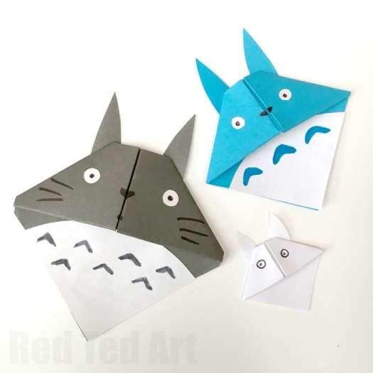 Origami Bookmark Corner Red Ted Arts Stratadime