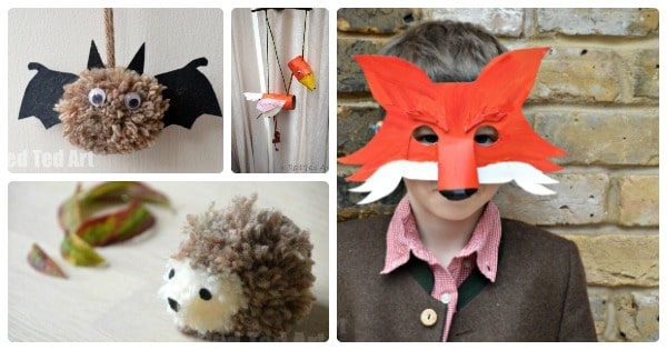 Woodland Animal Crafts For Kids Red Ted Arts Blog
