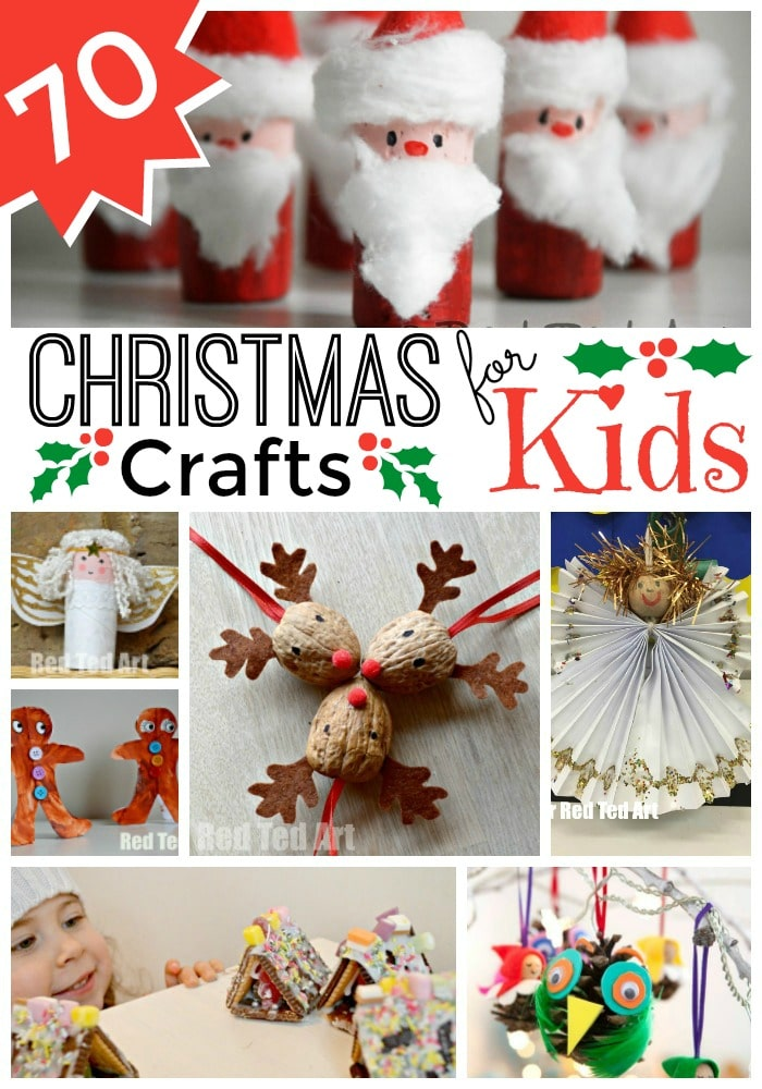 Easy Christmas Crafts For Kids Red Ted Arts Blog