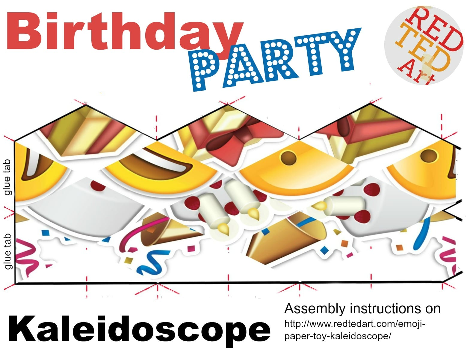 Emoji Paper Toy Kaleidoscope