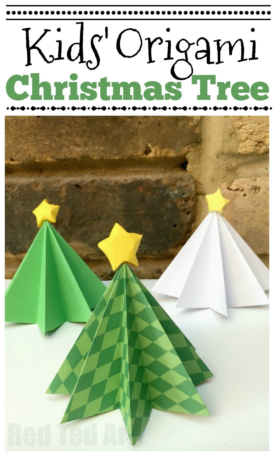 Origami Christmas Tree How To