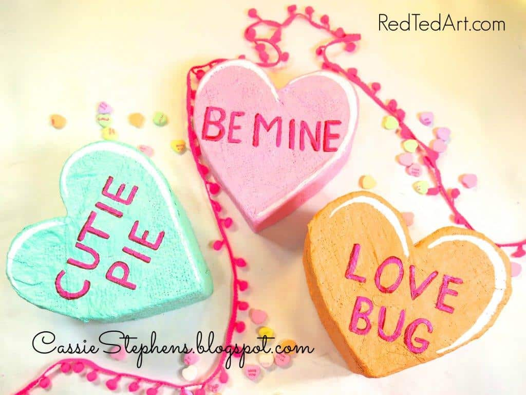 How To Make Giant Conversation Hearts For Valentines