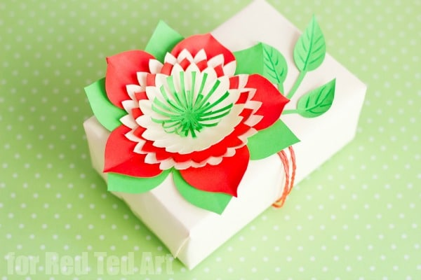 Pretty Paper Flowers DIY Including Template Red Ted Art