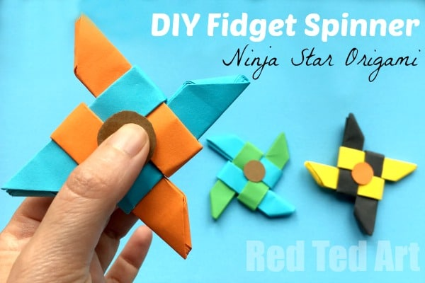 Ninja Fidget Spinner DIY Paper Only NO TEMPLATE Needed
