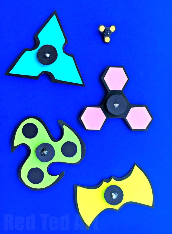 DIY Printable Fidget Spinner Template Without Bearings Red Ted Arts Blog