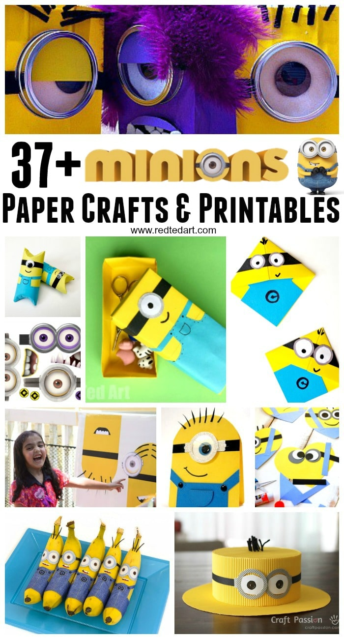 37 Minion Paper Crafts Despicable Me Printables Red Ted Art Make Crafting With Kids Easy Fun