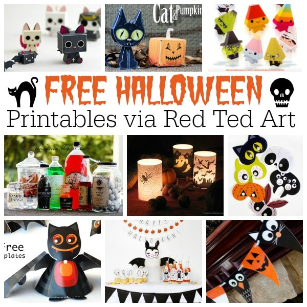 Free Halloween Printables For Adults Amp Kids Red Ted Art