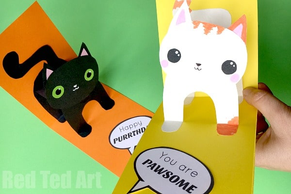 3D Cat Card DIY Red Ted Arts Blog