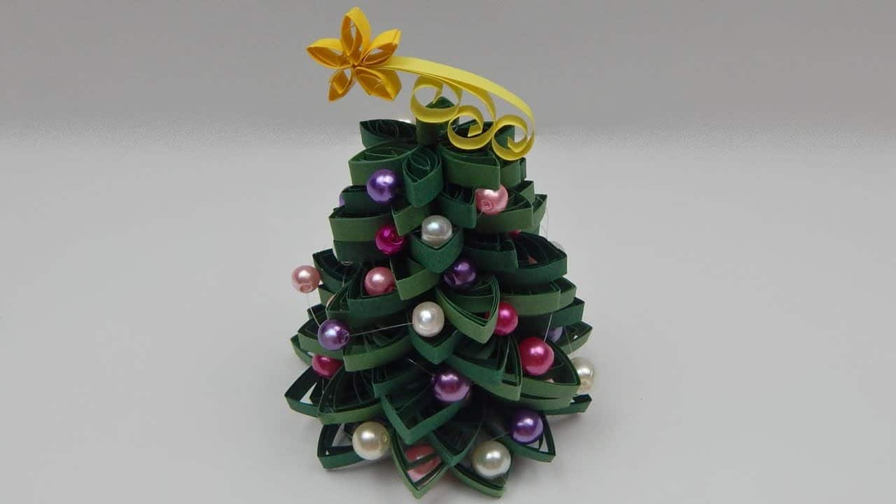 Quilled Christmas Tree 2 Red Ted Arts Blog