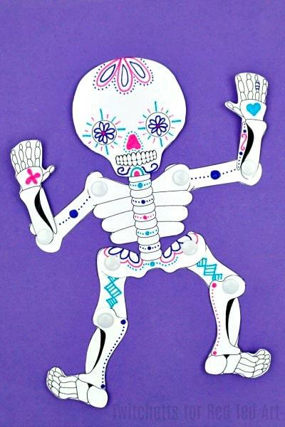 Sugar Skull Paper Crafts Red Ted Arts Blog