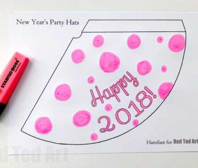 New Years Eve Party Hat Printables Use The Templates To Decorate Your Own Or