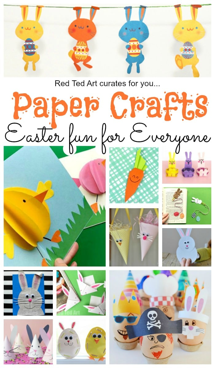 Paper Easter Crafts Red Ted Art