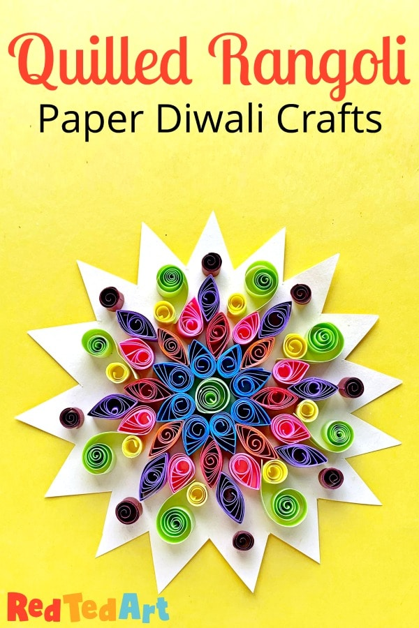 Paper Quilled Rangoli Pattern For Diwali With Kids