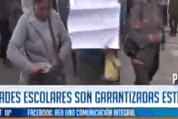 ACTIVIDADES ESCOLARES SON GARANTIZADAS ESTE AÑO