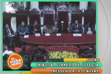 EL TRIBUNAL SUPREMO DE JUSTICIA RESOLVIÓ 6.751 CAUSAS