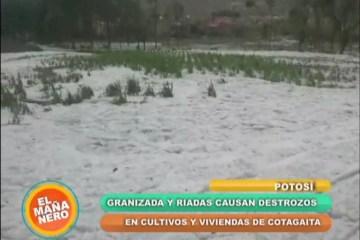 GRANIZADA CAUSA DESTROZOS EN EL MUNICIPIO DE COTAGAITA