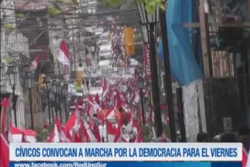 CÍVICOS CONVOCAN A MARCHA EN FAVOR DE LA DEMOCRACIA