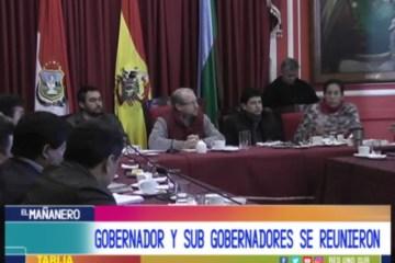 GOBERNADOR Y SUBGOBERNADORES SE REÚNEN