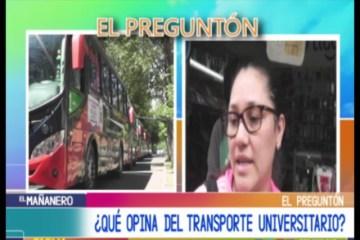 EL PREGUNTÓN: TRANSPORTE UNIVERSITARIO
