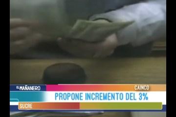 LA CAINCO PROPONE EL INCREMENTO SALARIAL DEL 3%