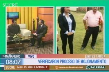 VERIFICAN PROCESO DE MOJONAMIENTO