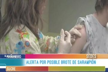 ALERTA POR POSIBLE BROTE DE SARAMPIÓN