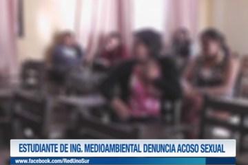 ESTUDIANTE DE INGENIERÍA MEDIO AMBIENTAL DENUNCIA ACOSO SEXUAL