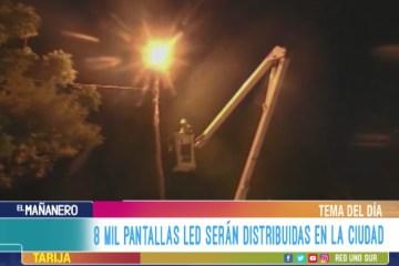 TEMA DEL DÍA: 8 MIL PANTALLAS LED SERÁN DISTRIBUIDAS EN LA CIUDAD