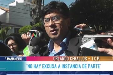 """ORLANDO CEBALLOS: """"NO HAY EXCUSAS  A INSTANCIA DE PARTE"""""""