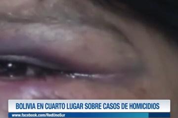 BOLIVIA EN CUARTO LUGAR SOBRE CASOS DE HOMICIDIOS