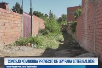 EL CONCEJO NO ABORDA EL PROYECTO DE LEY PARA LOTES BALDÍOS