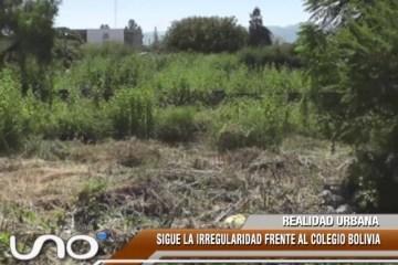 REALIDAD URBANA: SIGUE LA IRREGULARIDAD FRENTE AL COLEGIO BOLIVIA