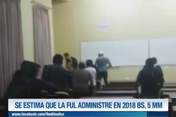 SE ESTIMA QUE LA FUL ADMINISTRE EN 2018 BS. 5 MM