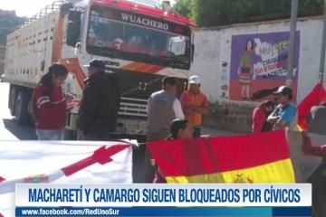 MACHARETÍ Y CAMARGO SIGUEN BLOQUEADOS POR CÍVICOS