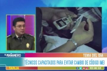 TEMA DEL DÍA: TÉCNICOS CAPACITADOS PARA EVITAR CAMBIO DE CÓDIGO IMEI