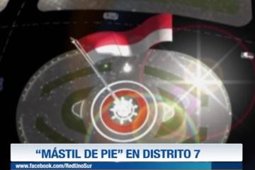 """""""MÁSTIL DE PIE"""" EN EL DISTRITO 7"""