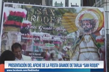 """PRESENTACIÓN DEL AFICHE DE LA FIESTA GRANDE DE TARIJA """"SAN ROQUE"""""""