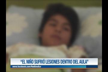 """""""EL NIÑO SUFRIÓ LESIONES DENTRO DEL AULA"""""""