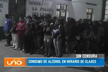 SIN CENSURA: CONSUMO DE ALCOHOL EN HORARIO DE CLASES