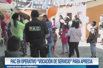 """PAC EN OPERATIVO """"VOCACIÓN DE SERVICIO"""" PARA APRECIA"""