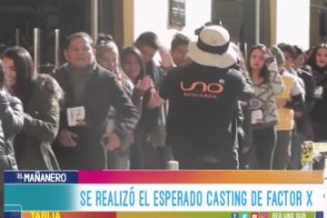 SE REALIZÓ EL ESPERADO CASTING DE FACTOR X