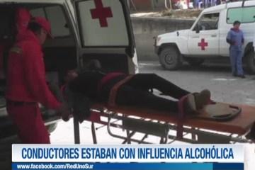 CONDUCTORES ESTABAN CON INFLUENCIA ALCOHÓLICA