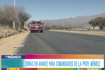 OBRAS EN AVANCE PARA COMUNIDADES DE LA PROVINCIA MÉNDEZ