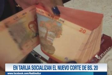 EN TARIJA SOCIALIZAN EL NUEVO CORTE DE BS. 20