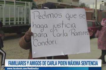 FAMILIARES Y AMIGOS DE CARLA PIDEN MÁXIMA SENTENCIA