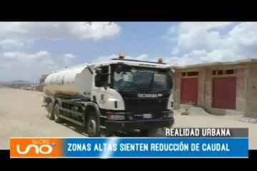 REALIDAD URBANA: ZONAS ALTAS CARECEN DE AGUA