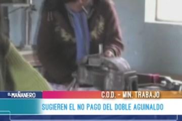 SUGIEREN EL NO PAGO DEL DOBLE AGUINALDO
