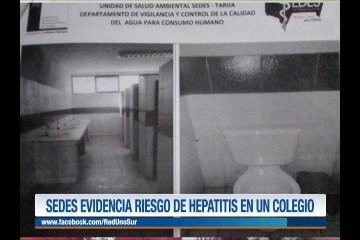 SEDES EVIDENCIA RIESGO DE HEPATITIS EN UN COLEGIO